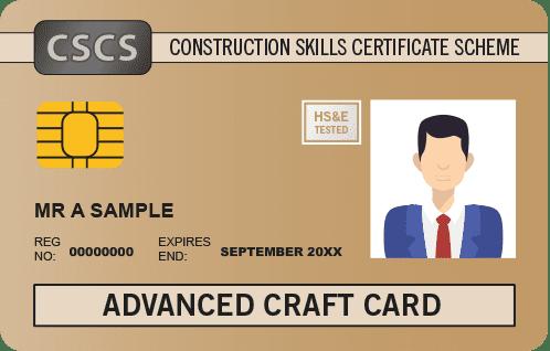 Advanced Craft Cscs Card