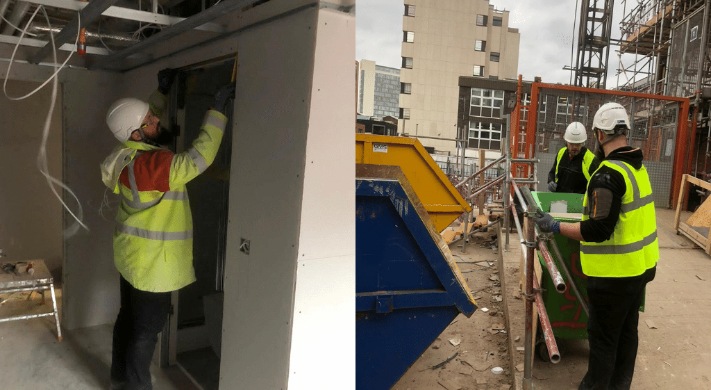 Supervisors inspecting work on a construction site during their NVQ Level 3 in Occupational Work Supervision